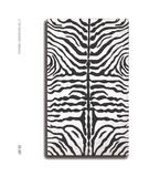 RugStudio presents The Rug Market America Resort Zebra Black 25267 Black/white Hand-Hooked Area Rug